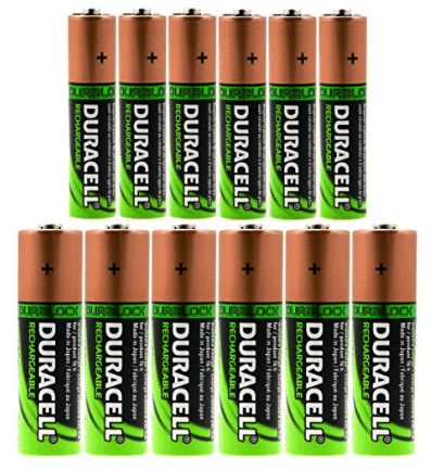 best rechargeable batteries - duracell duralock AA + AAA