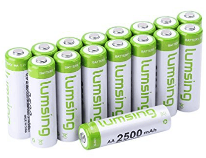 best rechargeable batteries - lumsing 16 pack