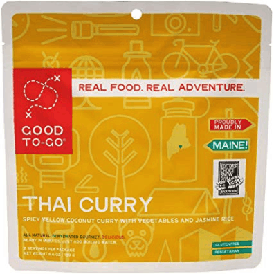 best freeze dried foods - good to go thai curry